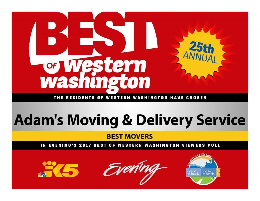 Adam's Moving & Delivery Service Best Movers BOWW Certificate 2017
